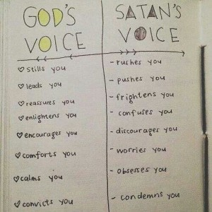 How to discern God from the Satan